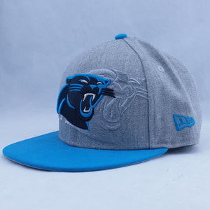Carolina Panthers New Era Hat Gray Blue SZ 7 1/8